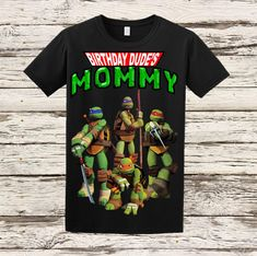 Ninja Turtles Mom Shirt TMNT Adult Shirt by BellaFashionDesignz