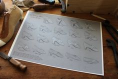 18th century Shoe Timeline Print by GoldenHind on Etsy, $28.00