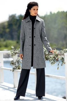 Classic 3/4 Length Wool Coat: Classic Women's Clothing from #ChadwicksofBoston $49.99 - $109.99