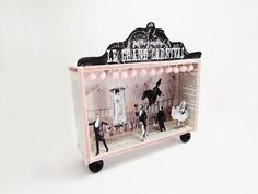 Shadow box diorama frame Le Grand Carnival by ILaBoom on Etsy, $60.00