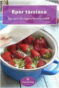Eper tárolása - Egy apró, de nagyon hasznos trükk, ami még az összetört epret is megmentheti! Smoothie Fruit, Strawberry, Food, Fruits And Veggies, Loosing Weight, Healthy, Recipe, Strawberry Fruit, Hoods