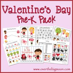 Valentines Pre-K/Preschool/Tot Pack!  31 Pages of Pre-K and K Valentines Learning Fun!
