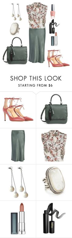 """""""Sunday Church"""" by jfcheney ❤ liked on Polyvore featuring Jimmy Choo, MaxMara, Vince, River Island, Pink Box, Marc Jacobs, Maybelline, INIKA and OPI"""