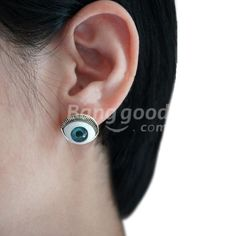 Personalized Punk Style Evil Eye Pattern Stud Earring 2 Colors Free Shipping!  - US$1.50