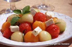 Salade de trois melons à la feta - les meilleures recettes de cuisine d'Ôdélices