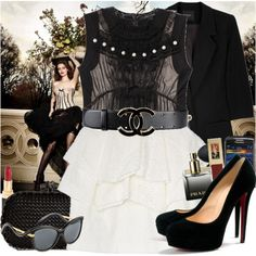 Chanel belt and Loubotins