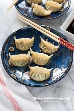 Shrimp & Chive Dumplings from thelittlekitchen.net