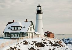 One of my favorite lighthouses: Portland Headlight Lighthouse in Portland, Maine.