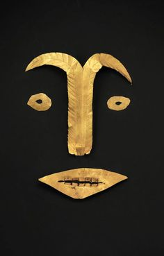 Indonesia ~ East Java | Funerary face cover; gold | ca. 500 BC to 200 AD, Preclassic Period