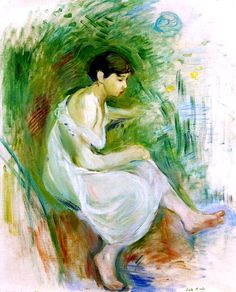 Bather in a Chemise - Berthe Morisot - 1894