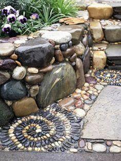 How to DIY Spiral Mosaic Stone Garden Path | iCreativeIdeas.com Follow Us on Facebook --> https://www.facebook.com/iCreativeIdeas