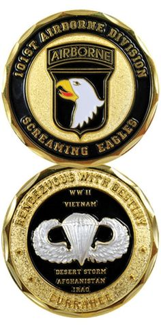 101st Airborne Division Screaming Eagles Rendezvous with Destiny Army Challenge Coin