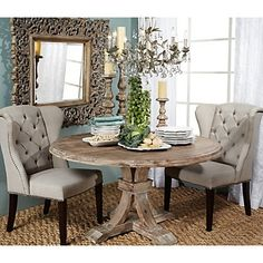 Best Round Tables Images On Pinterest Round Tables Dining - Rustic round breakfast table