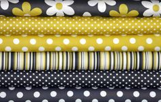 .Fabric Bundle for quilt or craft Michael Miller Citron Gray 6 Half yards
