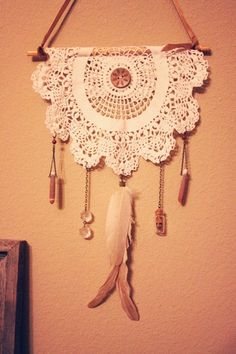 recycle- it looks like a Victorian dreamcatcher.