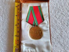Vintage Romania/Romanian Outstanding Achievements Award Medal Pin Badge Military Surplus, Soviet Union, Pin Badges, Romania, Ribbon, Ebay, Vintage, Tape, Band
