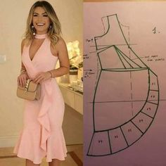 Alinti Diger sayfam - Salvabrani fashion Sewing - Make Your Own Clothes Fashion Sewing, Diy Fashion, Ideias Fashion, Fashion Dresses, Fashion Clothes, Make Your Own Clothes, Diy Clothes, Dress Sewing Patterns, Clothing Patterns