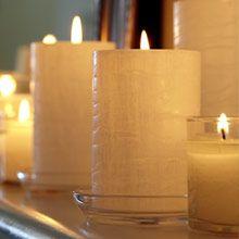GloLite Pillar-Kerze, 7x12 cm, Eisfrüchte