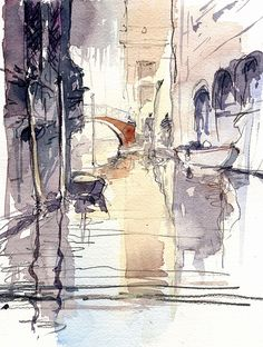 Contact ‹ My Online Art Gallery Sketch Painting, Watercolor Sketch, Watercolor Landscape, Watercolor Paintings, Watercolours, Sketchbook Inspiration, Art Sketchbook, Fashion Sketchbook, Art Sketches