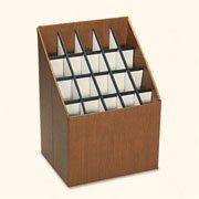 NEW - Corrugated Roll Files, 20 Compartments, 15w x 12d x 22h, Woodgrain - 3081 by Safco. $83.82. Efficient and economical storage. Shorter rolls store in front, longer rolls in back, all visible. Durable corrugated fiberboard. Color: Woodgrain; Compartment Quantity: 20; Compartment Size: 2 3/4 x 2 3/4.