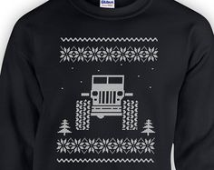 Jeep Ugly Christmas Sweater 4x4 Wrangler Gift Giving Holiday Season X-Mas Winter Jeep Lover Boyfriend Present Girlfriend Gift Hoodie RG-11