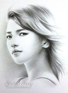 suzy  miss a  by hong yu - Pencil Drawings by Leong Hong Yu  <3 <3