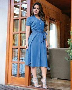 """61842c6dd1 Amor Próprio Moda Feminina on Instagram  """"Dress lindo e versátil do chique  ao casual é o nosso vestido Maria em Tencel .. super confortável !!"""