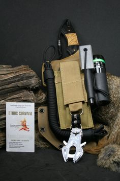 EDC Field Kit With a Elk Ridge Knife Canvas by EthosSurvival