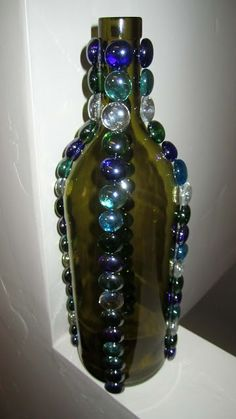 Wine Bottle Crafts #WineBottleCrafts