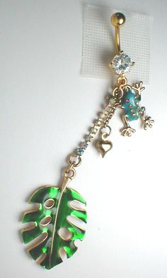 Unique Belly or Navel Ring - Frog Pendant On A Belly Ring. $14.95, via Etsy.