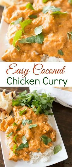 you are an adventurous foodie or a ground beef and rice casserole meat and potatoes type this easy coconut chicken curry is totally for you. you are an adventurous foodie or a ground beef and rice casserole meat and po Chefs, Easy Chicken Curry, Basil Chicken, Chicken Curry Recipes, Thai Coconut Curry Chicken, Recipe For Curry Chicken, Coconut Chicken Recipes, Simple Curry Recipe, Chicken Curry Coconut Milk