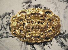 1 Vintage Dapped Brass Ornate Filigree 44mm by 30mm by StarPower99, $2.90