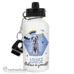 Personalised Rachael Hale Drinks Bottle - Celestial Dalmatian
