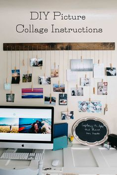 DIY Hanging Picture Collage {Mountain Wedding Photographer} — Searching for the Light Photography DIY Picture Collage Instructions. Click on photo for instructions  on how to create your own picture collage