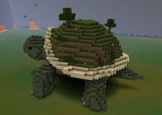 Creatures: Giant Tortoise Minecraft Project - Creatures: Giant Tortoise Minecraft Project Source by silviobaddy - Plans Minecraft, Minecraft Kunst, Minecraft Posters, Minecraft Statues, Minecraft Garden, Minecraft Houses Survival, Minecraft Houses Blueprints, Minecraft Tutorial, Minecraft Designs