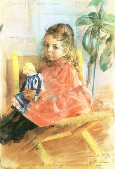 Girl with Doll, 1891, Carl Larsson