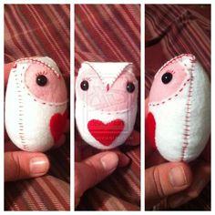 Valentine's Day Owl Plush Toy Pinned by www.myowlbarn.com