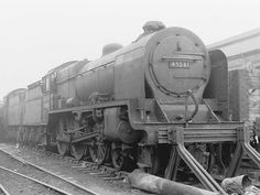 45541 Duke of Sutherland. Abandoned Train, Steam Railway, Train Art, British Rail, Train Engines, Steam Engine, Steam Locomotive, Train Tracks, Past