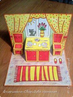 Kirigami Paper Houses Middle School Art Art Activities Elementary Art Teaching Art Art Plastique Art Education Art For Kids Kirigami, Paper Doll House, Paper Dolls, Fun Crafts, Crafts For Kids, Paper Crafts, Arte Elemental, Paper Pop, 4th Grade Art