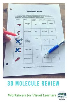 Review everything you have learned so far in chemistry with this one worksheet. It covers naming chemical compounds, writing chemical formulas, calculating molar mass, and ionic and covalent bonds. What more do you need? Students will even color the molecules for greater understanding. Use for high school, college students, or homeschool. #collegechemistry, #highschool, #chemistry, #mollarmass, #chemicalformulas, #ionic, #covalent Chemistry Basics, High School Chemistry, Chemistry Notes, Teaching Chemistry, Chemistry Lessons, Chemistry Teacher, High School Science, Ionic And Covalent Bonds, Molar Mass