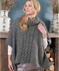 Free knitting pattern Poncho Erica | Free knitting patterns
