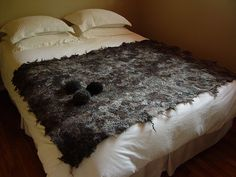 Dark chocolate wool felt prototype by Modern Fiber Lab - Sonya Yong James, via Flickr