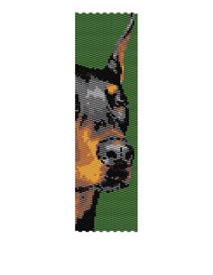 Doberman Pinscher Peyote Pattern van MyCraftAsylum op Etsy, $4,00