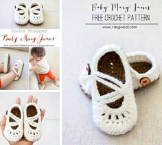 Double Strapped Crochet Shoes Free Pattern