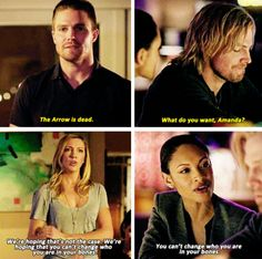 """We're hoping that you can't change who you are in your bones"" - Oliver, Laurel & Amanda Waller #Arrow"