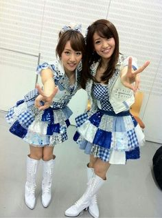 Takamina and Yuuchan.  Takahashi Minami and Oshima Yuko AKB48