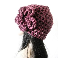 DIVA HAT  Timeless Hand Crocheted Romantic Hat with by kanokwalee | Cute