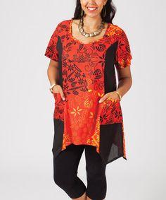 Red Arabesque Tunic - Plus #zulily #zulilyfinds