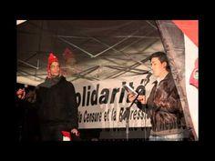 Manifestation au Panthéon contre la censure de l'ENS de Stéphane Hessel