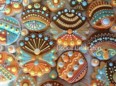 Sweets Art, Blue Yellow, Orange, Eat Pretty, Fall Cookies, Royal Icing, Cookie Decorating, Fancy, Cookie Ideas